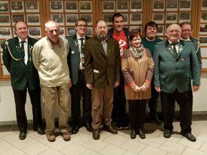 V. l. n. r.: D. Landwehr, H. Kahmann, W. z. Stadt, H. Osterloh, M. Landwehr, B. Adler, S. Ottermann, H. Schuster, W. Meier